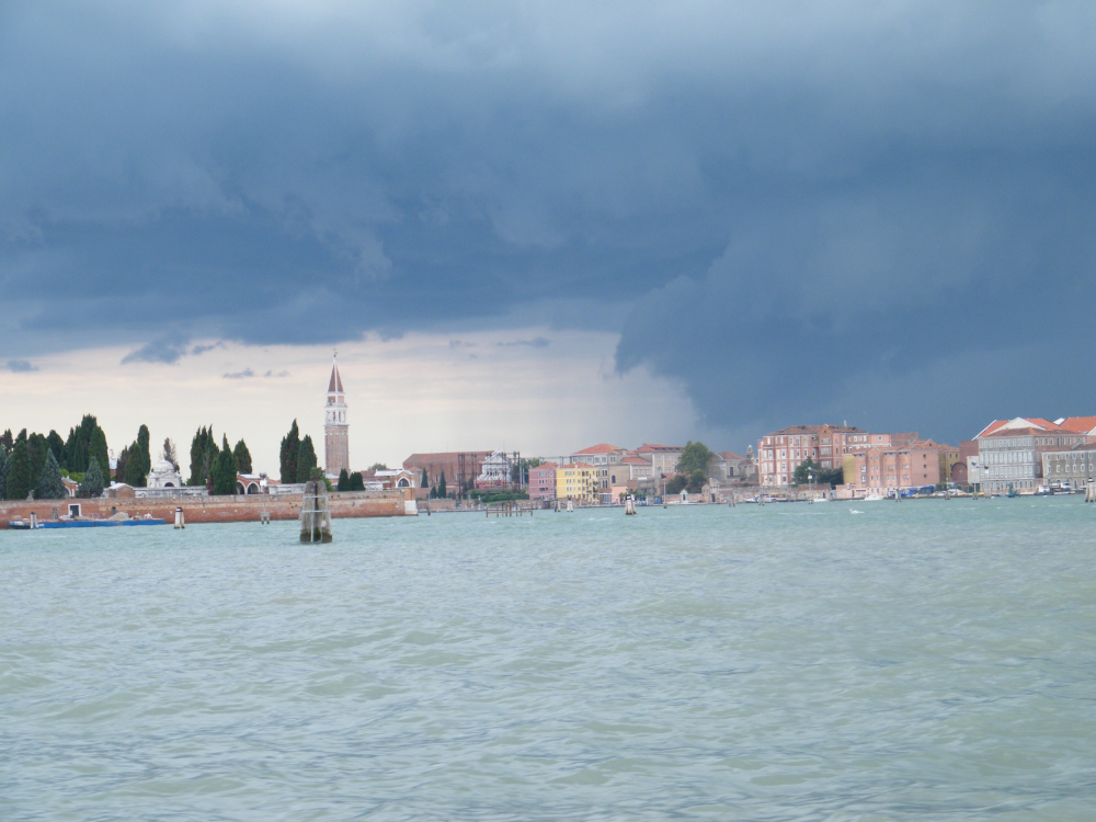 original Photo-clouds over Venice